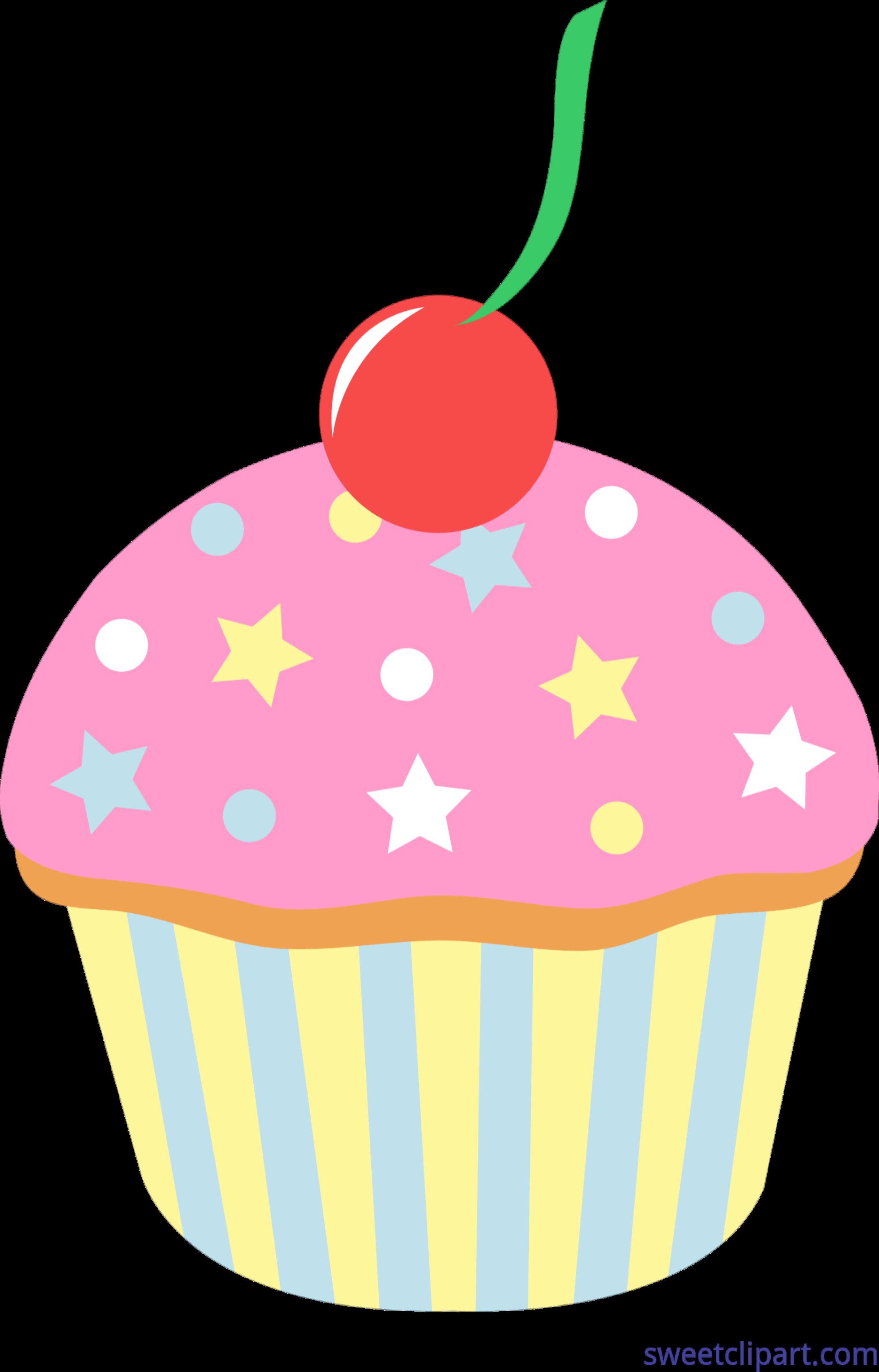 clip art transparent stock Cupcake Strawberry Sprinkles Cherry Clip Art