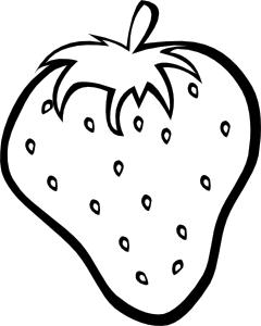 picture freeuse library Outline strawberry clip art. Drawing strawberries sketch
