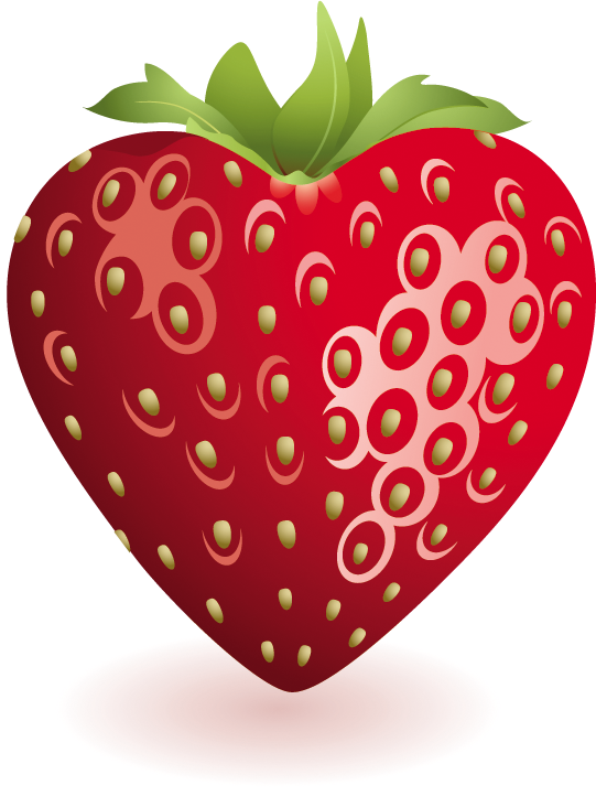 vector library download Heart Strawberry Clipart