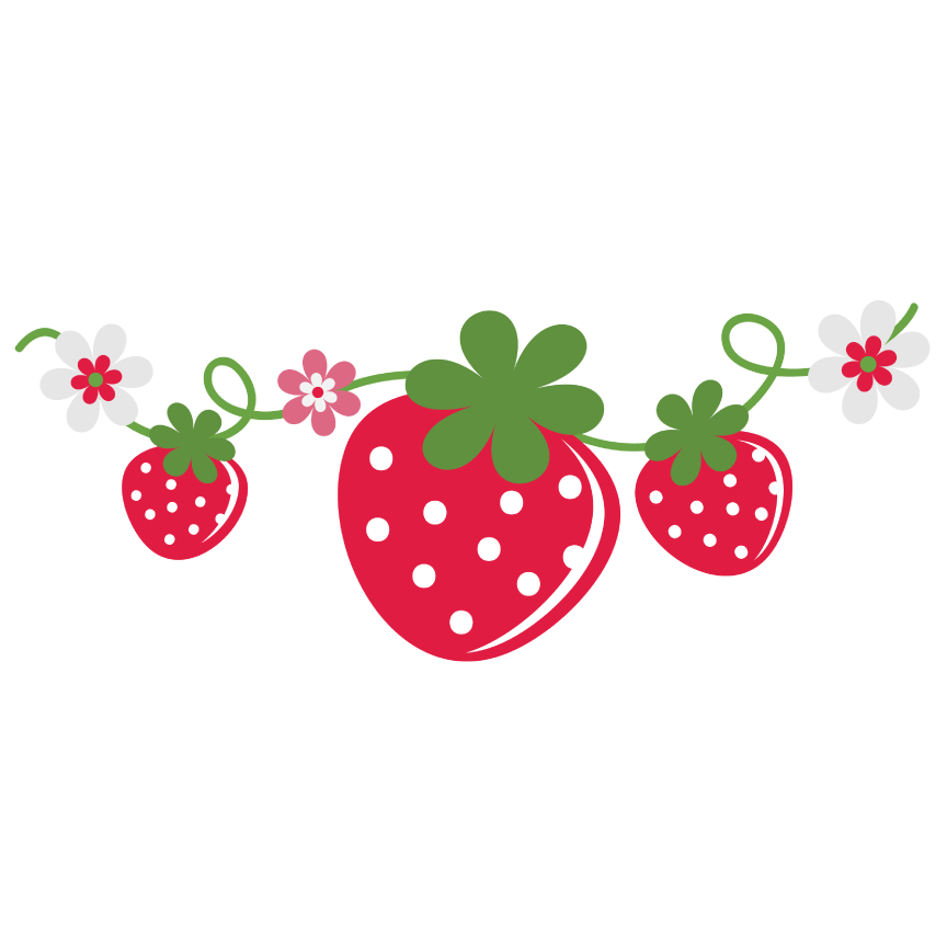clip art library stock Strawberry Vine with Flowers