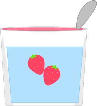 graphic transparent download Clip art image . Strawberry yogurt clipart.