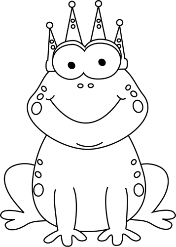 png free download Stream clipart black and white. Clip art frog prince