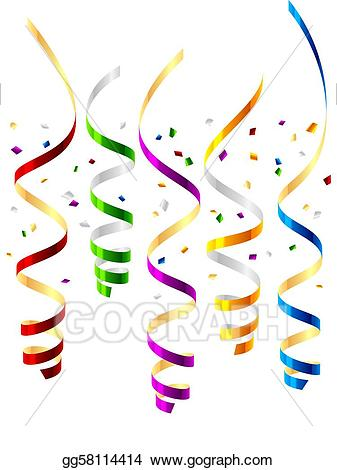 picture black and white Streamers clipart. Vector art party drawing