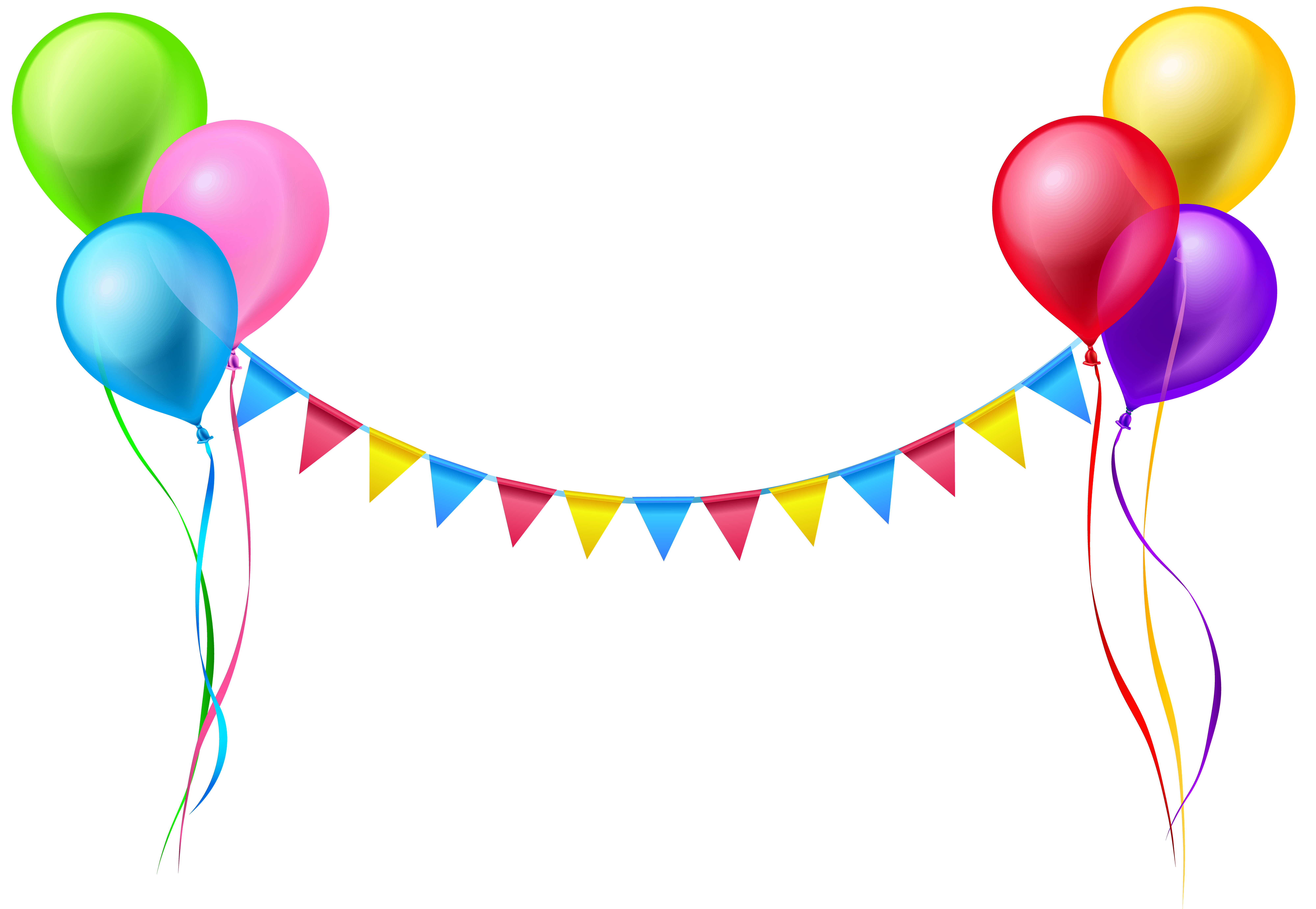 graphic free Streamer and balloons png. Streamers clipart