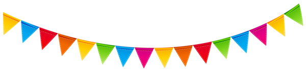 vector freeuse library Birthday streamer png clip. Banners transparent colorful