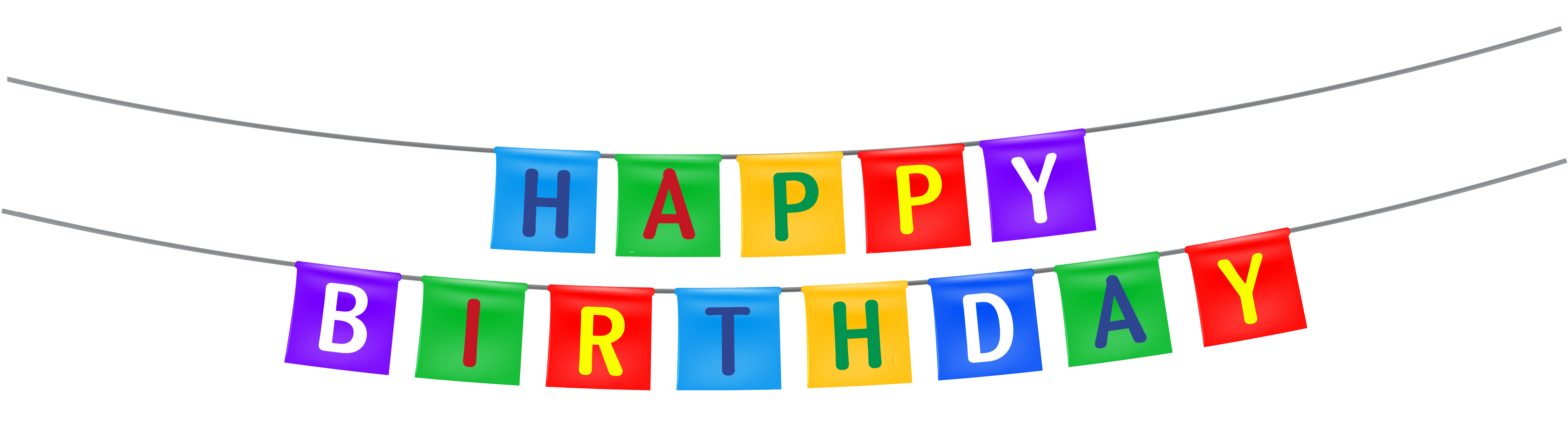 picture library download Happy birthday banner clipart. Streamer png image design