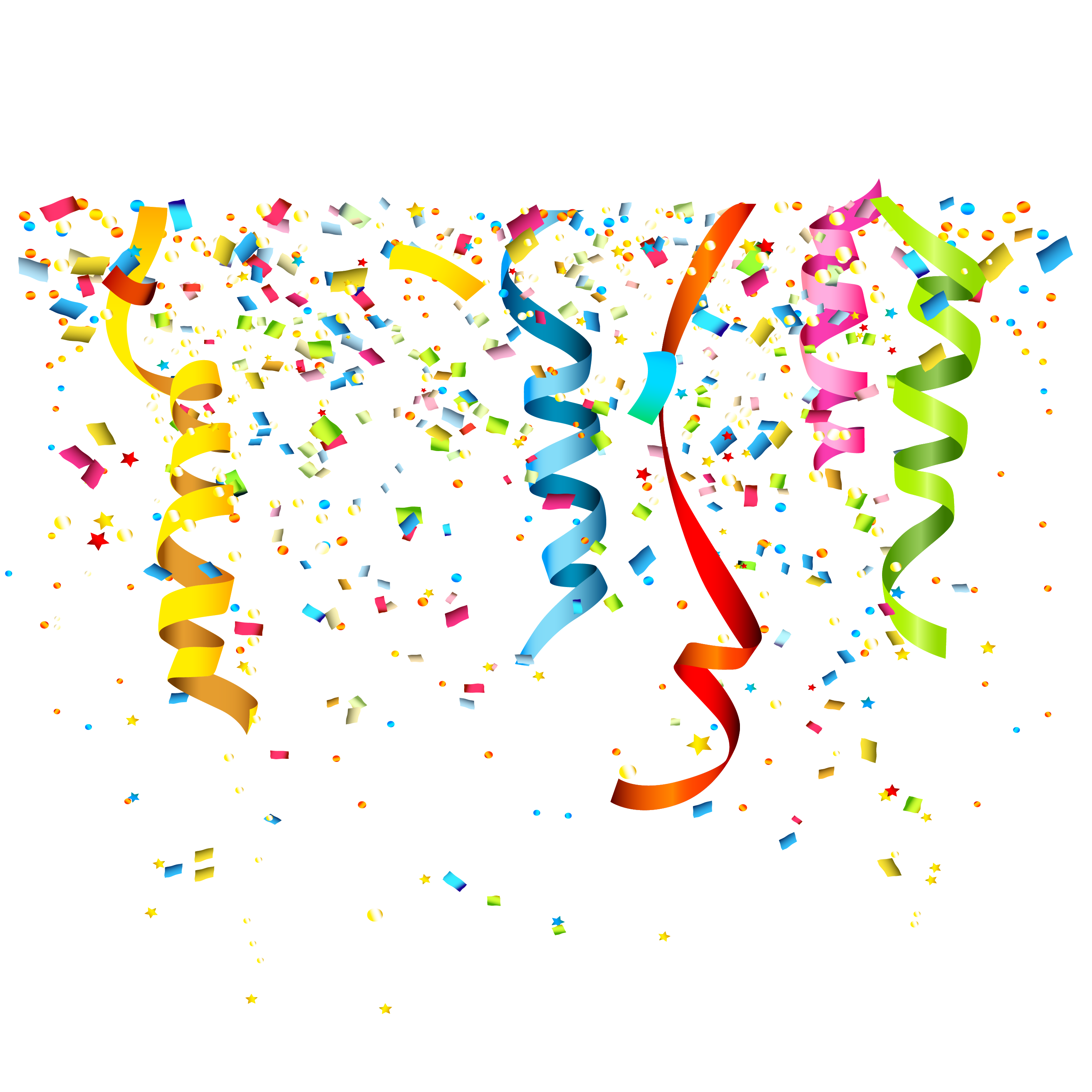 png freeuse stock Streamers transparent. Party confetti birthday clip