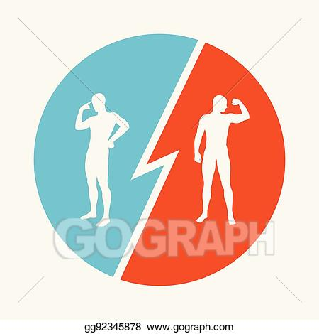 image transparent library Eps illustration brain vs. Strength clipart rivalry