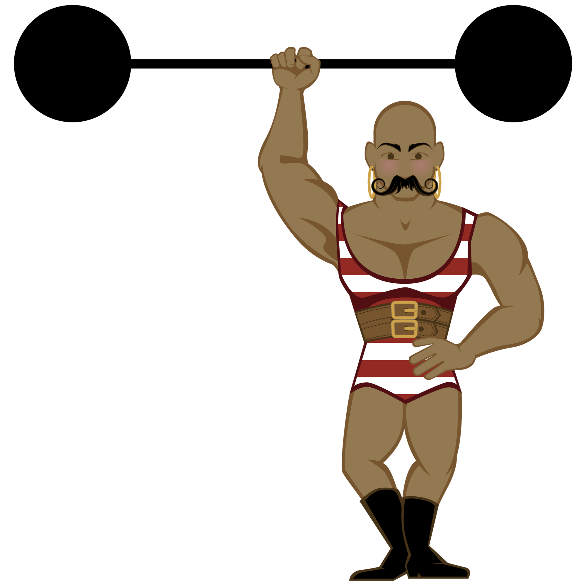 svg royalty free stock Strong Man Drawing at GetDrawings