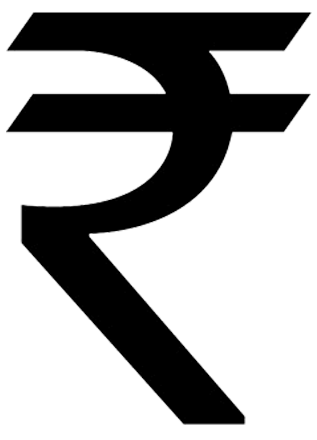 image transparent stock The symbol of Indian Rupee typifies India