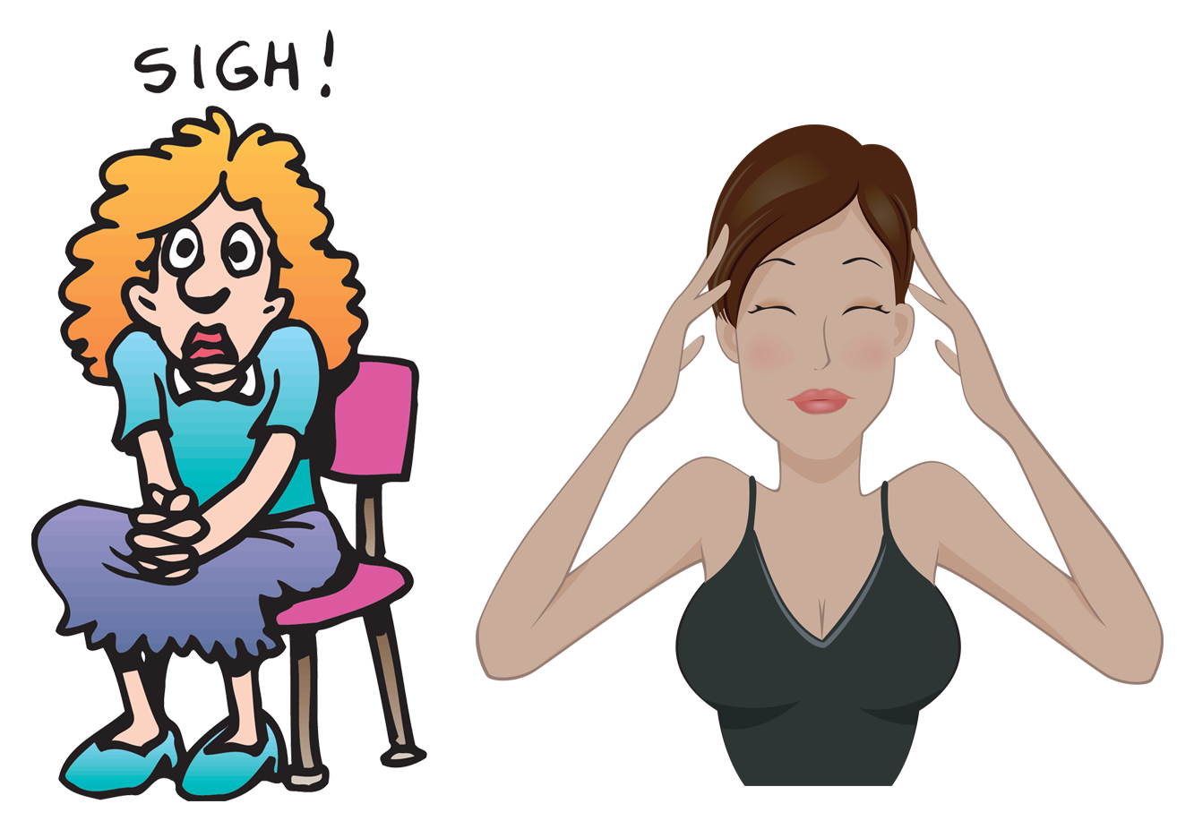 image royalty free download  collection of stress. Silent clipart anxious person.