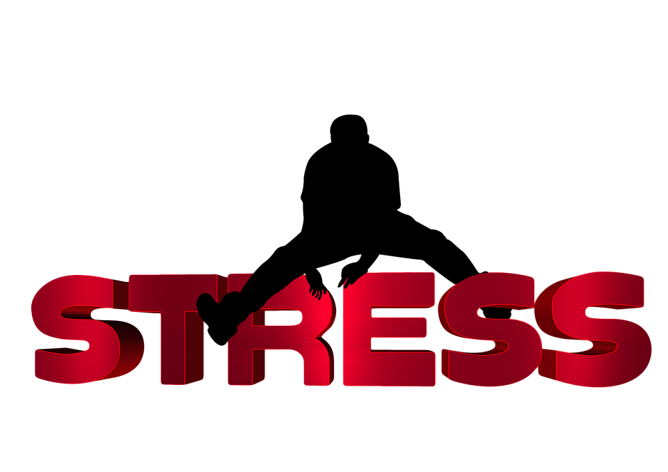 vector Clipart . Stress transparent word.