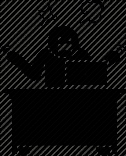 image transparent download Working by gan khoon. Stress transparent work icon.