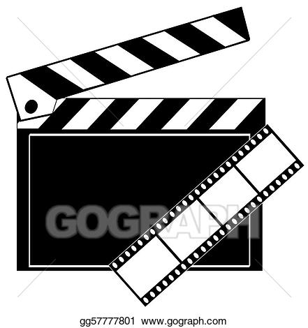 clip art free library Strip clipart studios. Stock illustration movie film