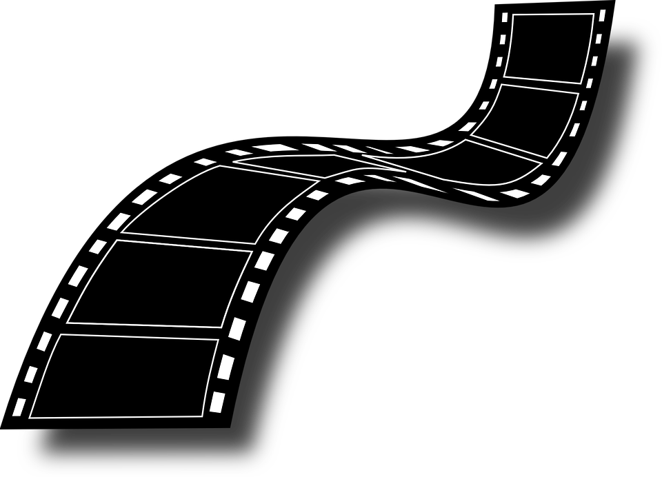 png black and white stock Video camera film free. Strip clipart studios