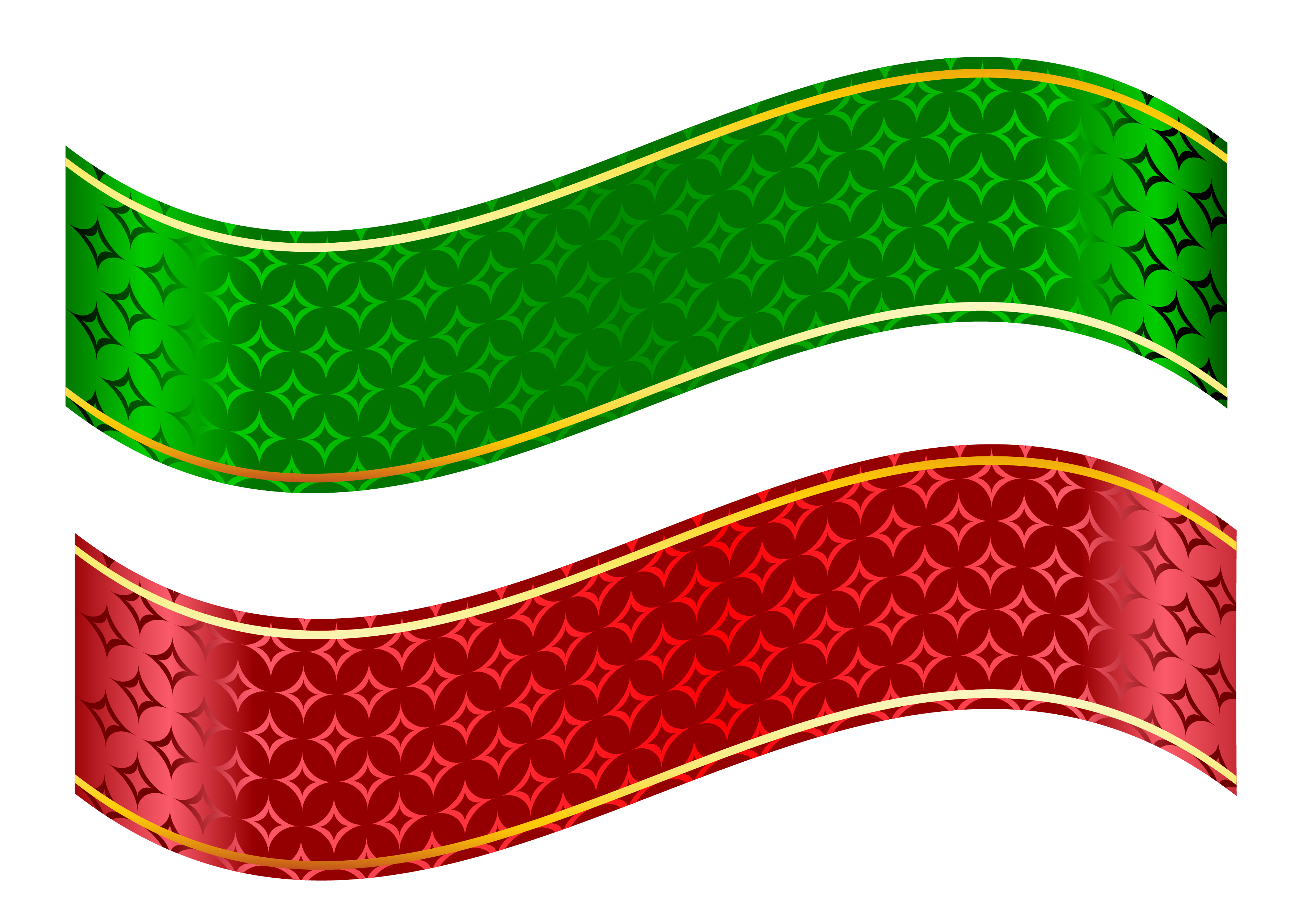 clipart library stock Strip clipart. Red and green set