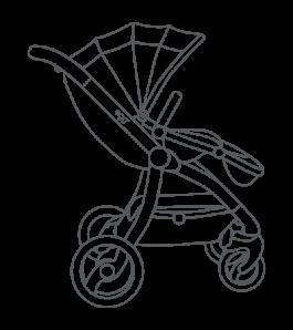 jpg royalty free library Stroller Drawing at GetDrawings