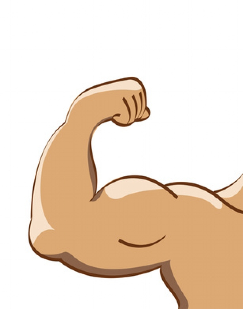 clipart freeuse download Clip art body . Strong arm clipart