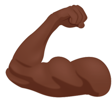 image free library Strong arm clipart. Emoji sticker get your