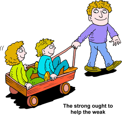 png royalty free library Strong kids clipart. Image dad pulling two