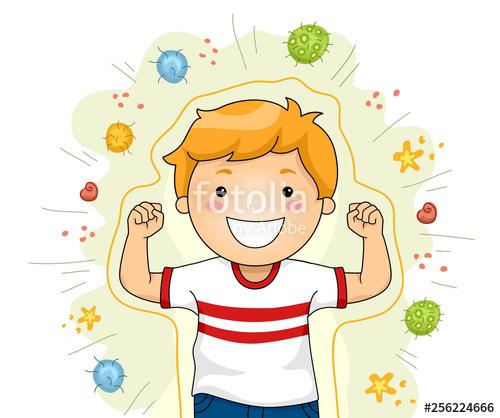clip art freeuse Shield against viruses illustration. Strong kid clipart.