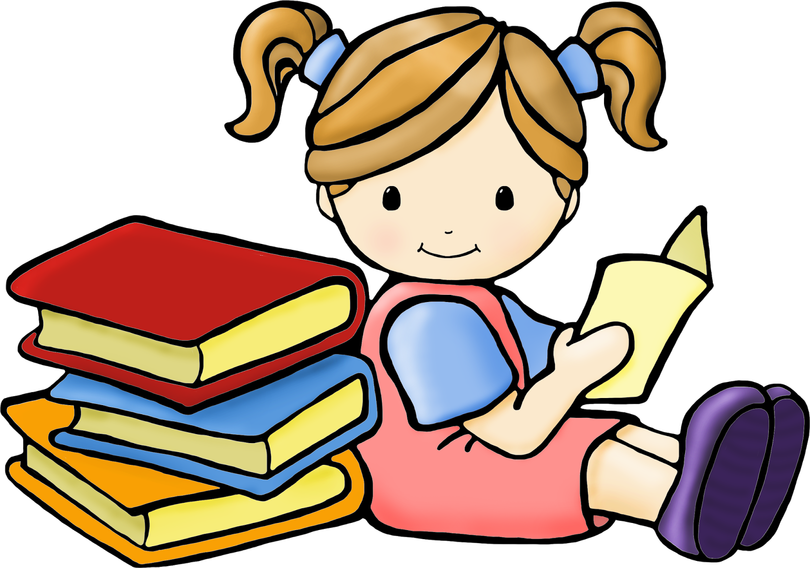 transparent Reading clipart for kids.  collection of student