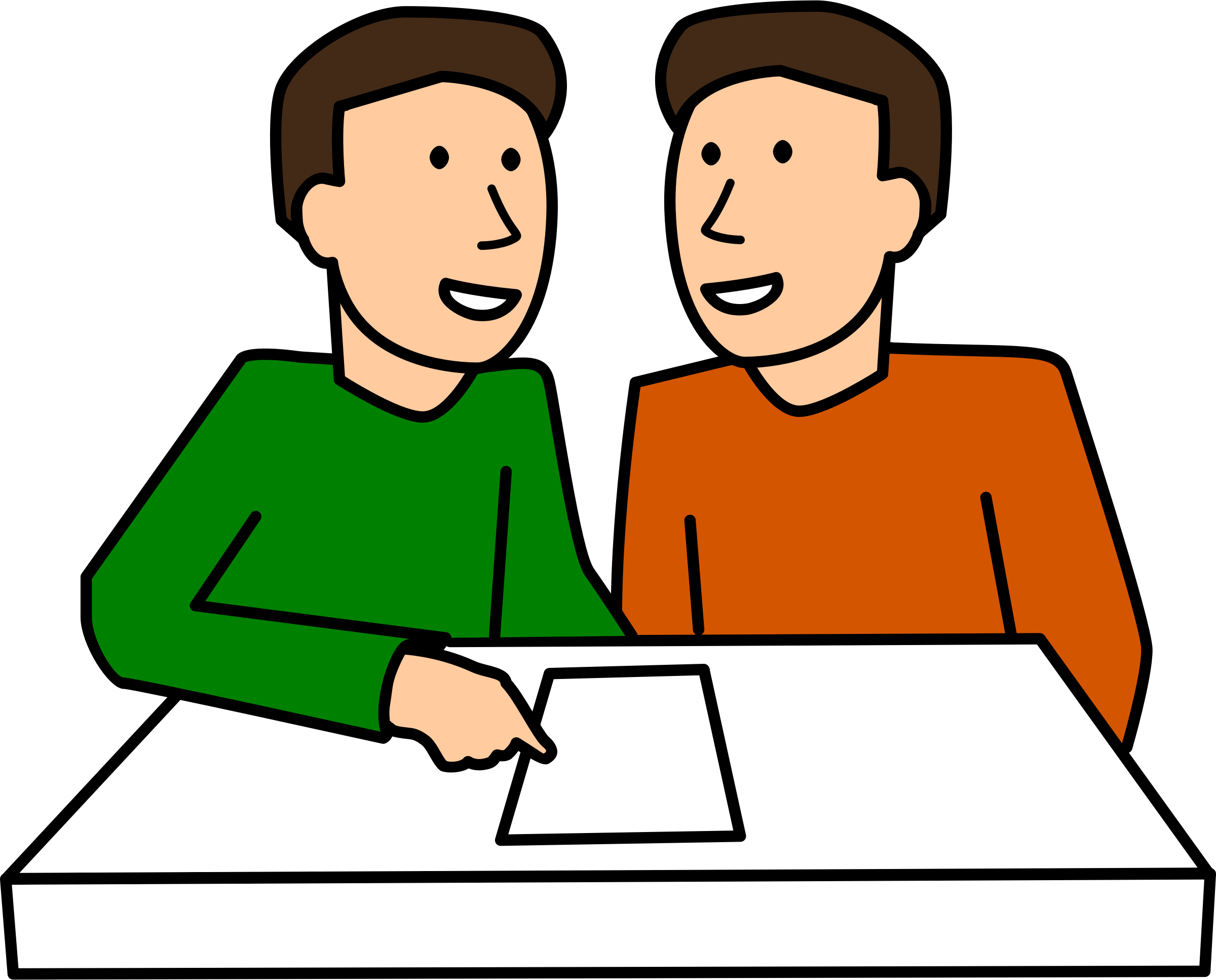 svg library download Two students working together clipart. Partner work males big.