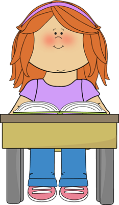 clip art royalty free download Reading school book clip. Writer clipart one student