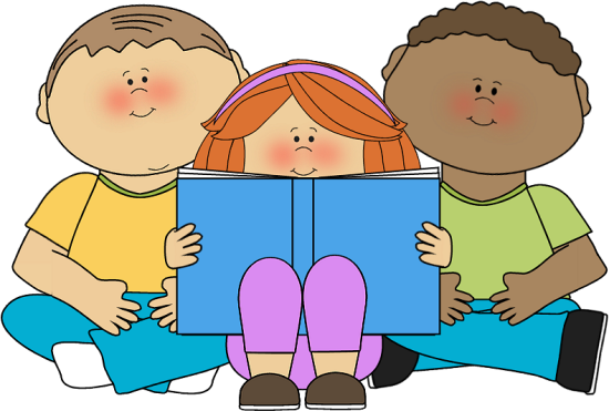 image royalty free . Students reading clipart