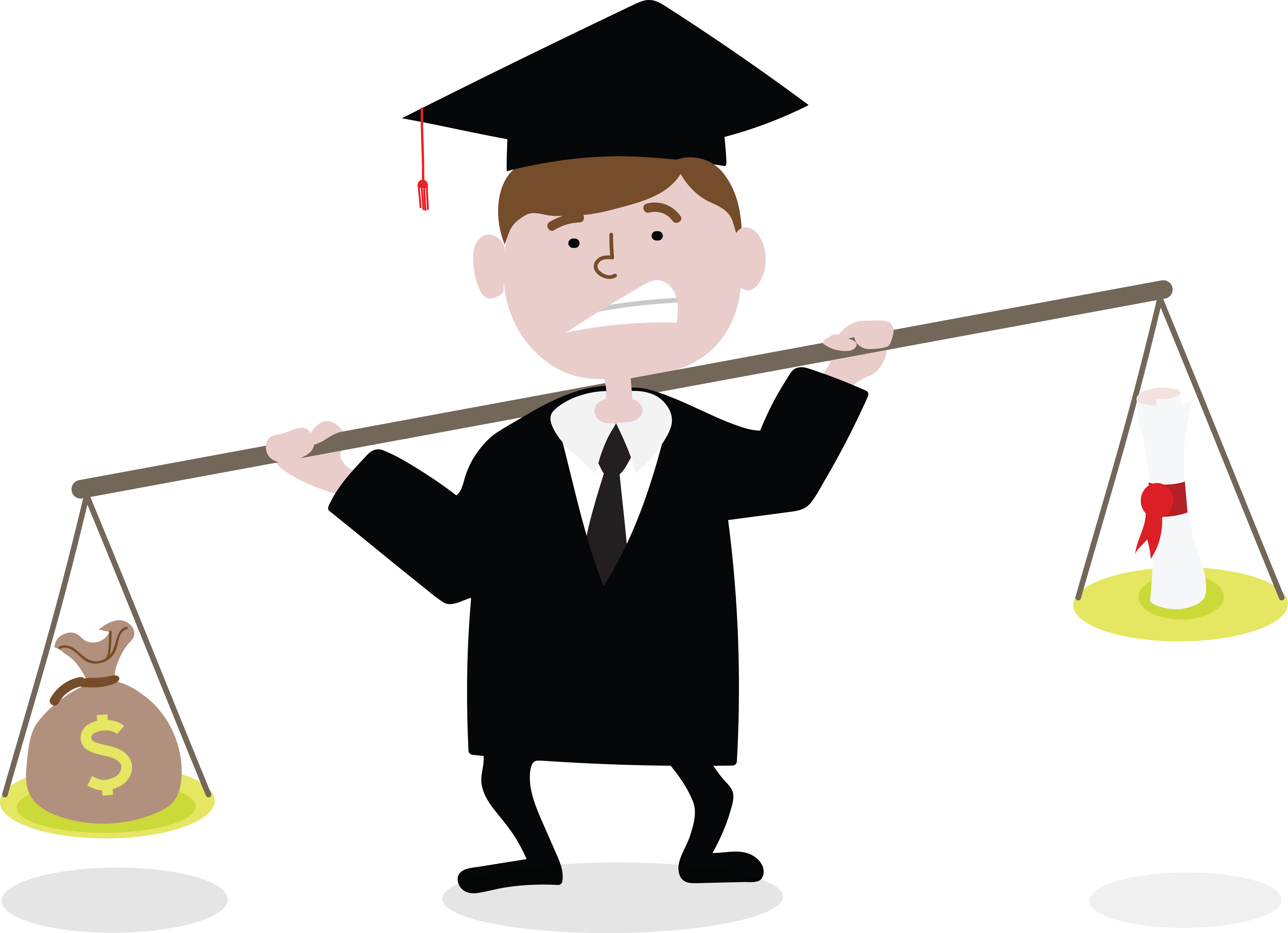 clip transparent library College students clipart. Student loans their effect.