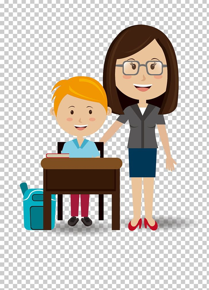 vector library Student png art . Teacher students clipart