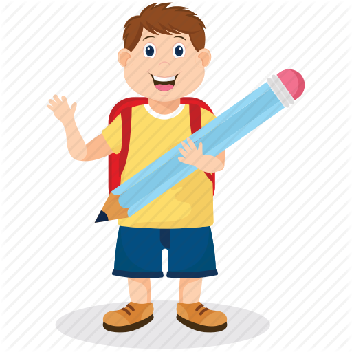clip stock Student working hard clipart. School kids by prosymbols.