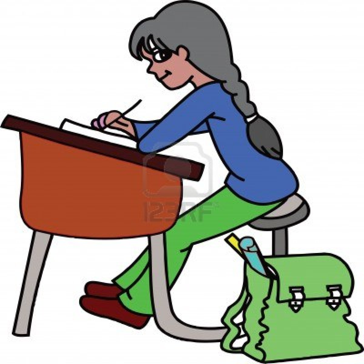 graphic free stock Student working hard clipart. Free download best .