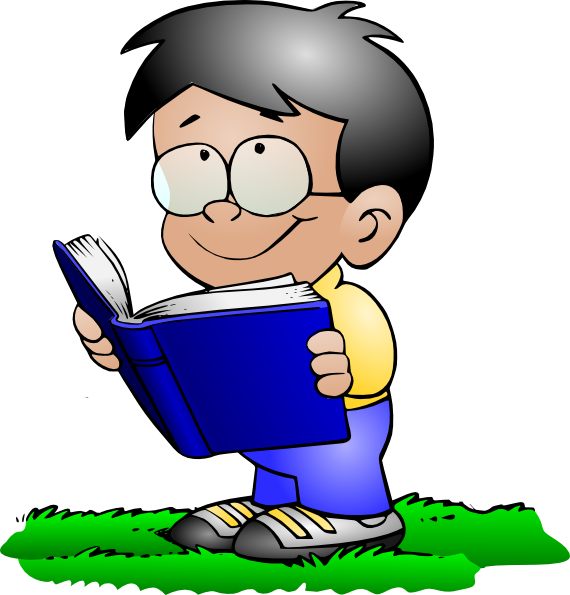 svg library library Kid studying clipart. School boy clip art