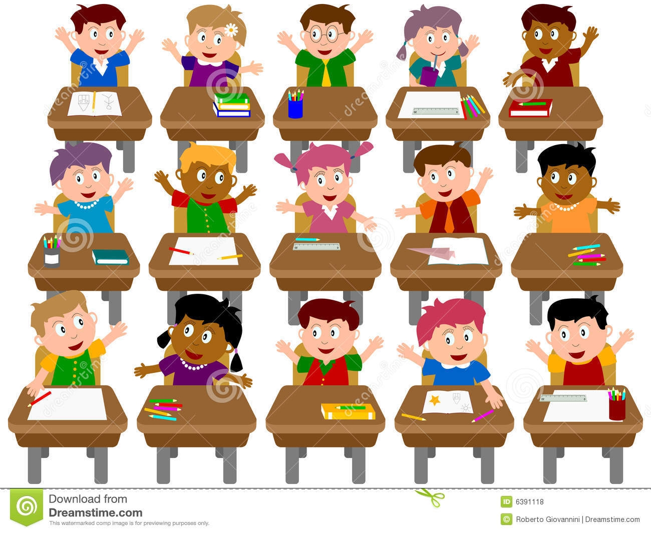 clipart transparent Students in class clipart. Station