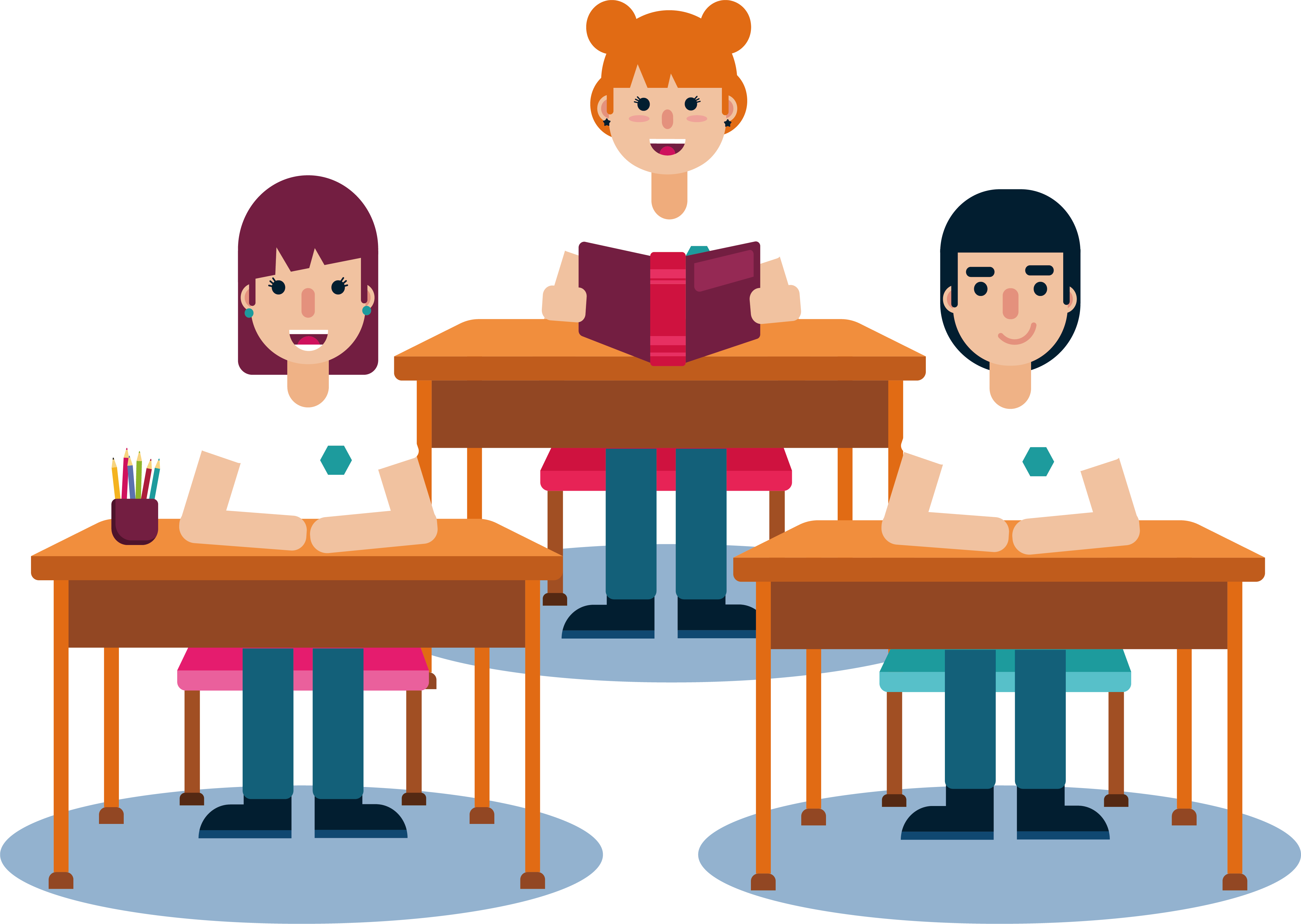 clipart royalty free library Student lesson clip art. Students in class clipart