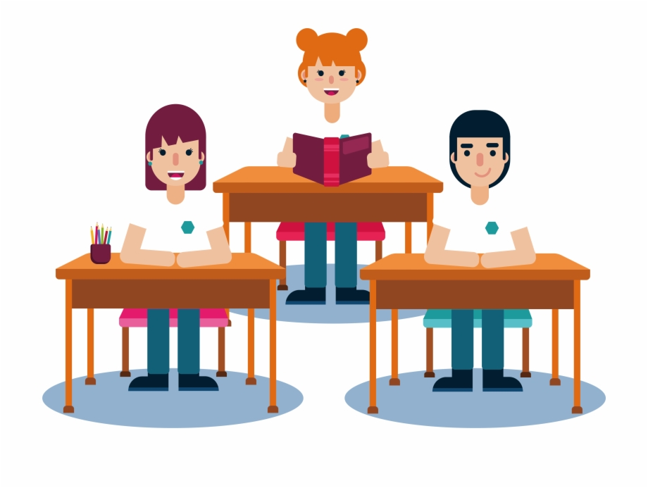 banner stock Student lesson clip art. Students in class clipart