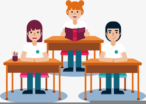 clip art transparent stock Students in classroom clipart. Free images at clker.