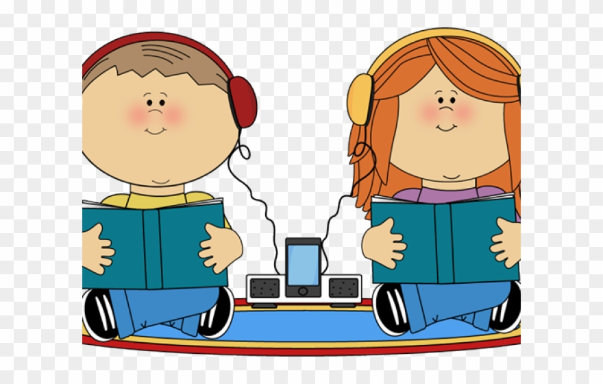 vector royalty free stock Stories student to books. Students listening clipart
