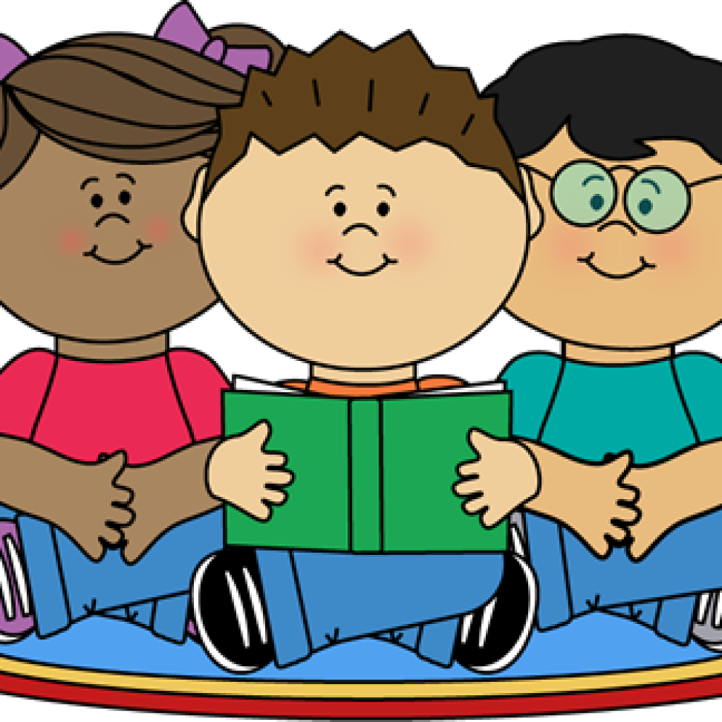 png stock Students reading clipart. Pumpkin hatenylo com image