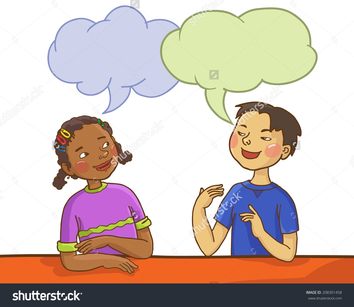 picture transparent stock  collection of kids. Students talking clipart.