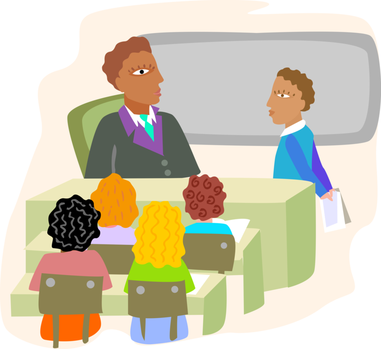 clipart transparent download Classroom with Students and Teacher
