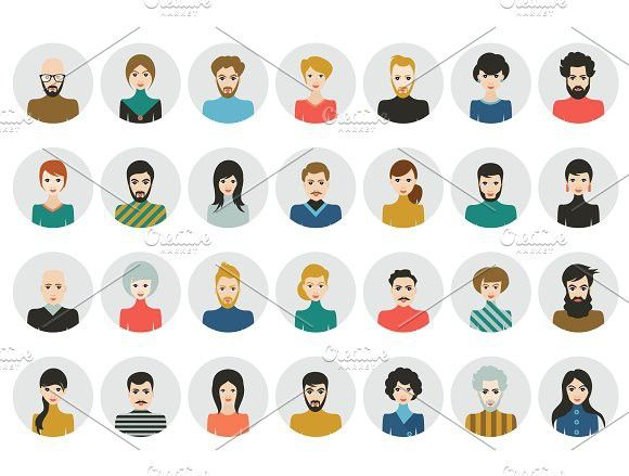 clip transparent stock Vector avatar student. People heads icons face