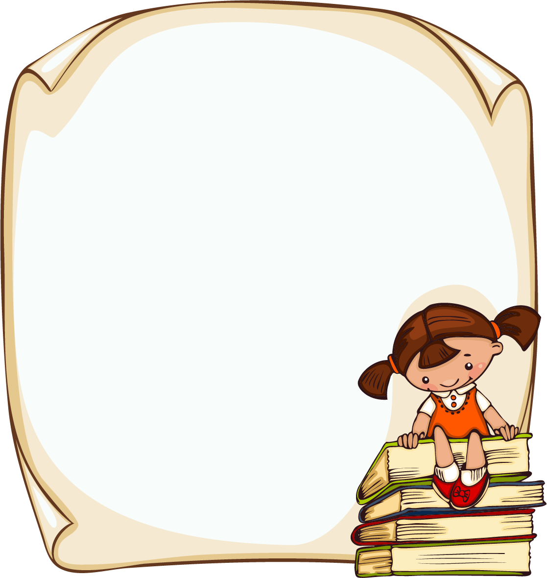 svg freeuse library Student Child Picture frame Clip art