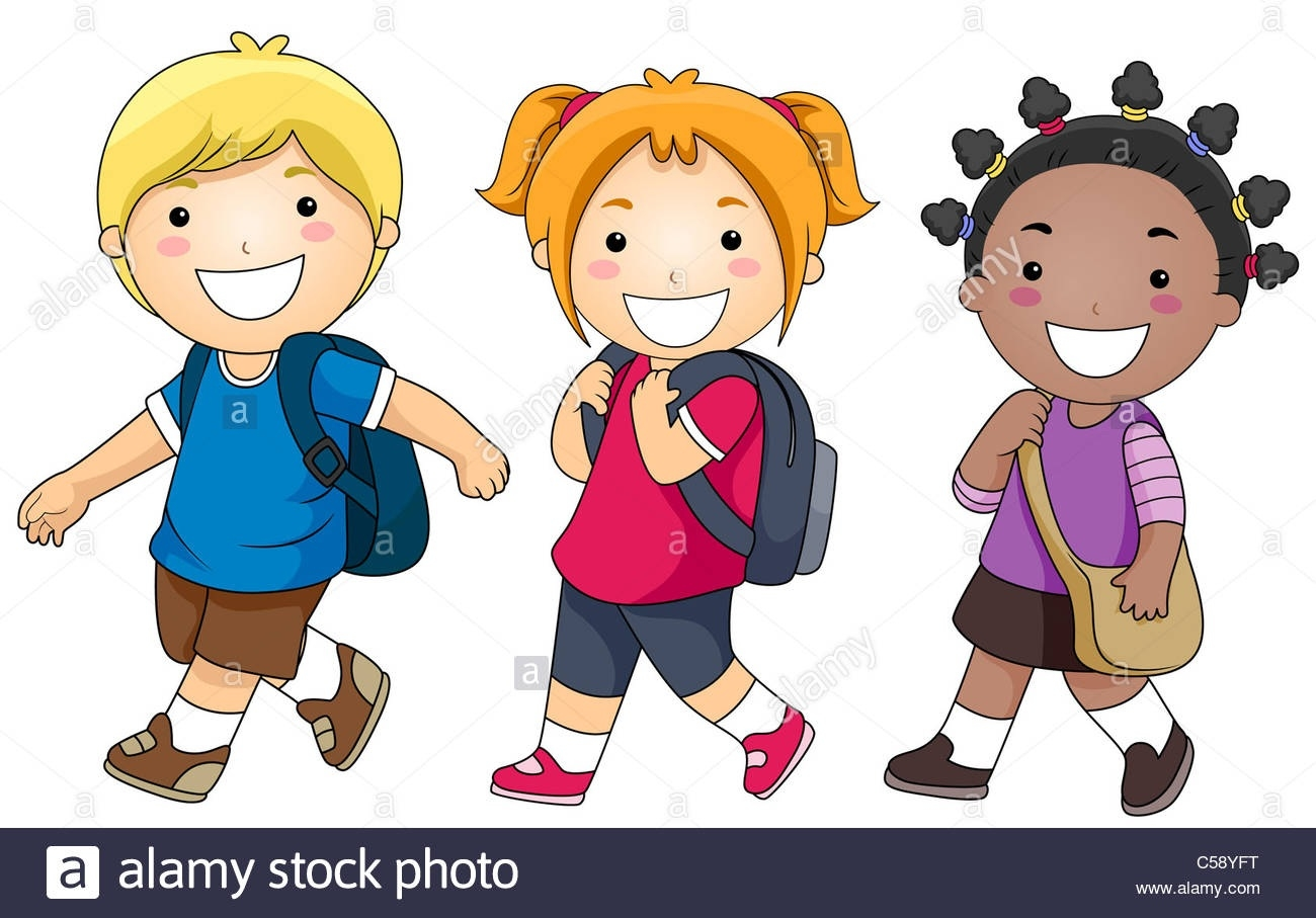 jpg transparent stock A small group of. Students walking clipart