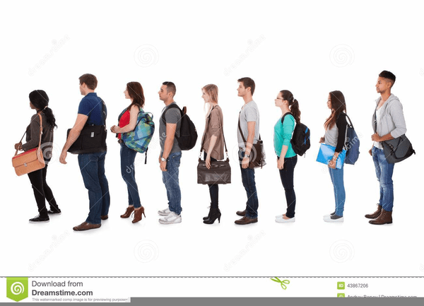 clipart stock Students walking in line clipart. Portal