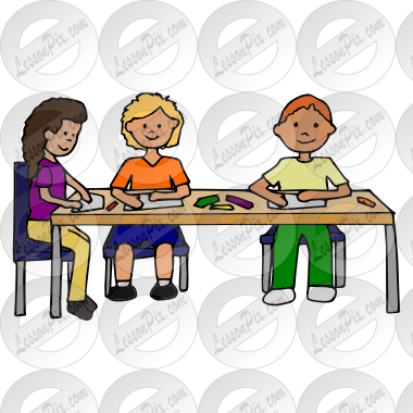graphic free library Students working in groups clipart.  collection of small