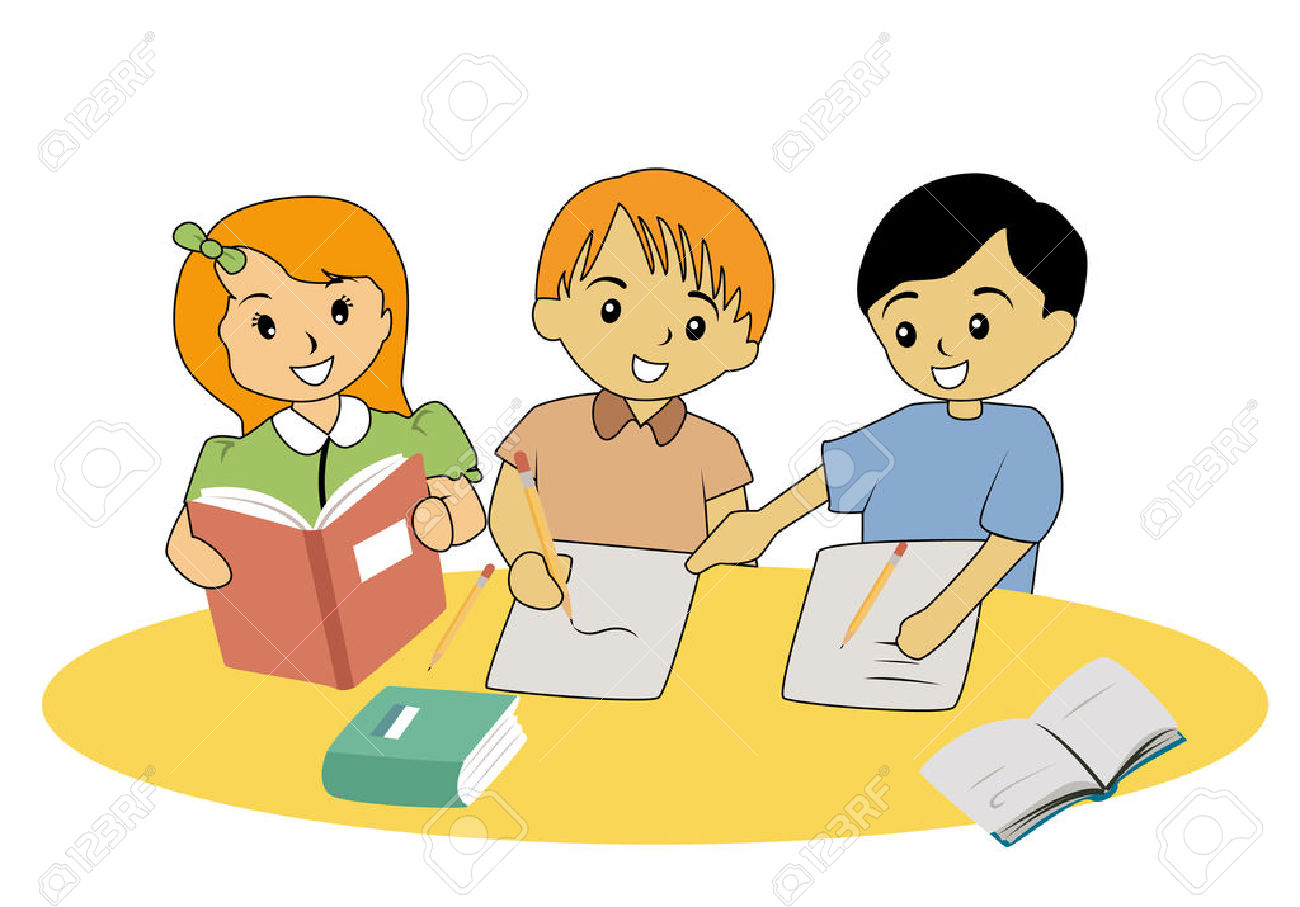 royalty free Students working together clipart. Free download best .