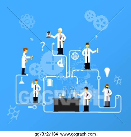 jpg freeuse library Studies clipart illustration. Eps in laboratory infographics.