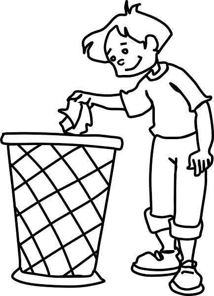 clip art royalty free stock Use the Dustbin Clipart